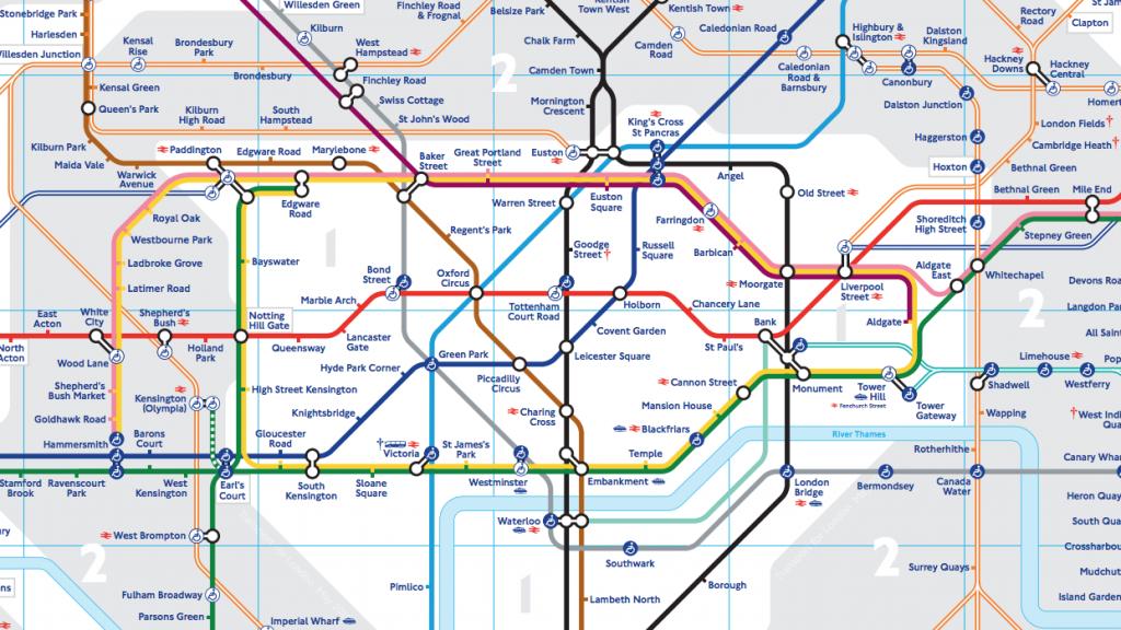 ロンドン地下鉄マップ
